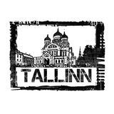 Tallinn Stamp. A stamp of the capital of Estonia, Tallinn Stock Photos