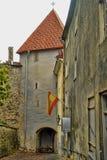Tallinn, street long leg Royalty Free Stock Image
