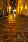 Tallinn street in night, Estonia Stock Photos