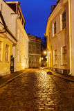 Tallinn street in night, Estonia Stock Photo