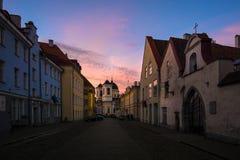 Tallinn. Sunset. City royalty free stock images