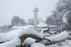 Tallinn, symbool van vrijheid in het centrum royalty-vrije stock fotografie