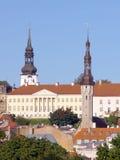 The Tallinn town hall. Cityscape of Tallin, capital of Estonia, Baltic Republic Stock Photos