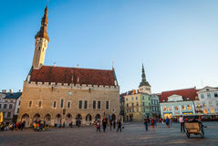 Tallinn Town Hall in ancient market square, Estonia Royalty Free Stock Photography