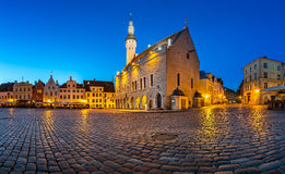 Tallinn Town Hall and Raekoja Square in the Morning, Tallinn Stock Photos