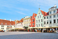 Tallinn, Town Hall Square Stock Photo
