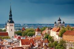 Tallinn van hierboven, Estland Royalty-vrije Stock Foto's