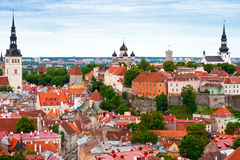 Tallinn van hierboven, Estland Royalty-vrije Stock Foto