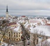 Tallinn vieja. Foto de archivo