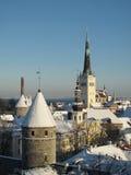 Tallinn vieja en invierno Foto de archivo libre de regalías
