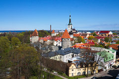 Tallinn. View from the observation deck on the roof of the old town in Tallinn Royalty Free Stock Photography