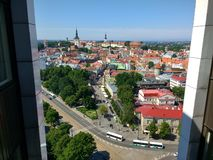 Tallinn view of old town from Viru hotel. Domberg, sommer, deay, sunny, estonia royalty free stock photography