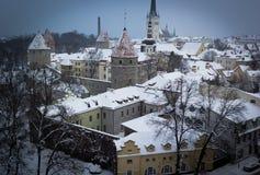 tallinn vinter Fotografering för Bildbyråer