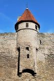 Tallinn, Vyshgorod. Small fortress tower. Old Tallinn, Vyshgorod. The turret of the fortress wall Stock Photo