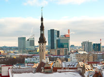 Tallinn in winter Stock Photo