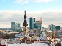 Tallinn in winter Stock Photo