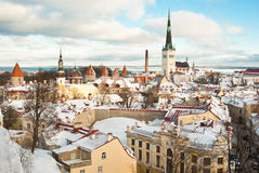 Tallinn in winter Stock Photos