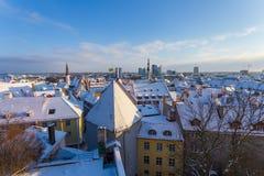 Tallinn at winter Stock Photography