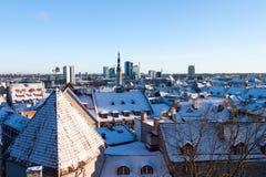 Tallinn winter panoramic view Stock Photo