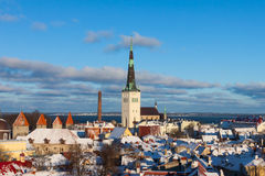 Tallinn winter panoramic view Royalty Free Stock Images
