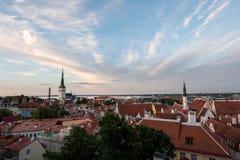Tallinn& x27美妙的看法; s老镇从上面 库存图片