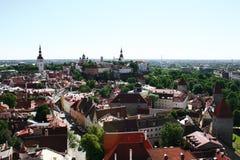 Tallinns alte Stadt im Sommer Lizenzfreie Stockfotos
