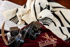 Tallit犹太宗教标志 库存照片