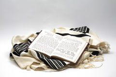 Tallit et siddur, d'isolement Photographie stock