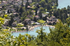 Talloires village at Annecy lake, France Stock Image