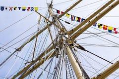 Tallship mast Stock Image
