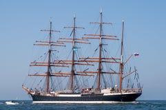 Tallship Sedov przy morzem Zdjęcia Royalty Free