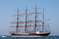 Tallship Sedov at sea Royalty Free Stock Photos