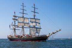Tallship Stad Amsterdam på havet Royaltyfri Bild