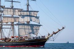 Tallship Stad Amsterdam at sea Stock Images