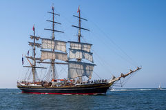 Tallship Stad Amsterdam at sea Royalty Free Stock Image