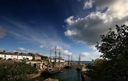 Tallships am Charlestown Hafen Stockfotografie