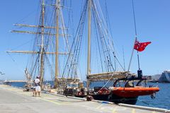 Tallships people harbour Fremantle Australia Royalty Free Stock Photography