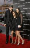 Tallulah belle Willis, Ashton Kutcher i Demi Moore, obrazy stock