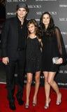 Tallulah Belle Willis, Ashton Kutcher und Demi Moore lizenzfreies stockfoto