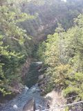 Tallulah Gorge in Georgië stock afbeelding