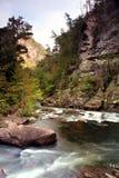 Tallulah River som tas från Tallulah Gorge som lokaliseras nära Clayton Georgia royaltyfri fotografi