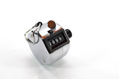 Tally Counter. The Tally Counter on White Stock Images