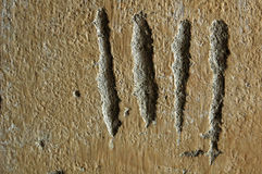 Tally Marks. Scratches in a prison wall in Cambodia Stock Images