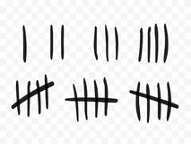 Free Tally Marks On A Prison Wall Isolated. Counting Signs. Vector Royalty Free Stock Photo - 124171505