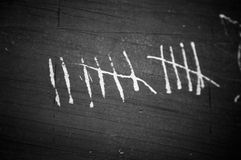 Tally Marks Stock Photography