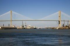 Talmadge Erinnerungsbrücke in der Savanne Lizenzfreies Stockbild