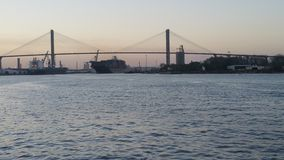 Talmadge Memorial Bridge u. x28; Georgia& x29; Lizenzfreies Stockfoto