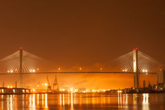 Talmadge Memorial bridge. US-17 over Talmadge Memorial bridge and Port of  Savahhan, GA Stock Photo