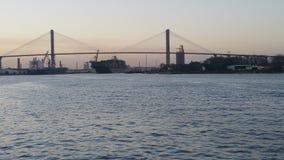 Talmadge Memorial Bridge & x28;Georgia& x29; Royalty Free Stock Photo