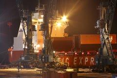 talnach корабля контейнера Стоковое Фото